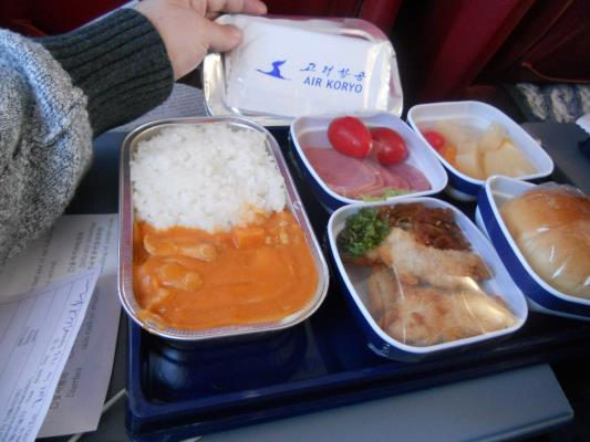 The food on Air Koryo was actually decent