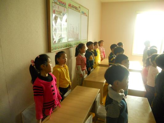 The children sang a song for us. Hearing their chest coughs was very hard to bear