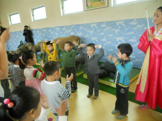 Now the boys sang a song. I should note that the teacher confused the sea turtle with a tortoise